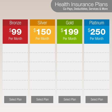 platinum: Health Insurance Plan Chart Illustration