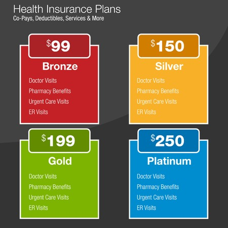 tiers: Health Insurance Plan Chart Illustration