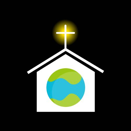 christian clip: An image representing religion across the planet. Illustration