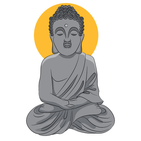 buddist: An image of a buddha statue. Illustration