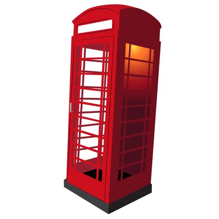 red telephone box: An image of a classic UK red telephone box.