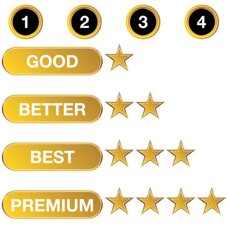 good better best: An image of a rating chart icon.