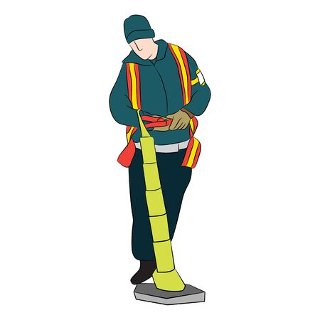runway: An image of airport traffic safety runway employee.