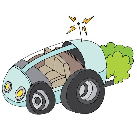 autonomous: An image of a autonomous self-driving car. Illustration