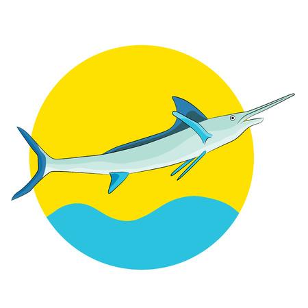 pez espada: Una imagen de un pez espada.
