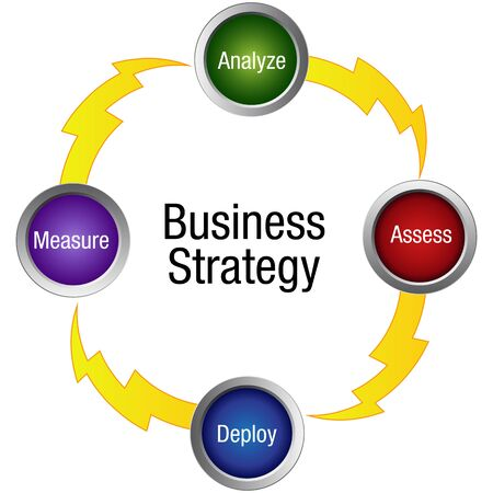 deploy: An image of a business strategy icon.