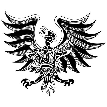 フェニックスの鳥アイコンのイメージ。  イラスト・ベクター素材
