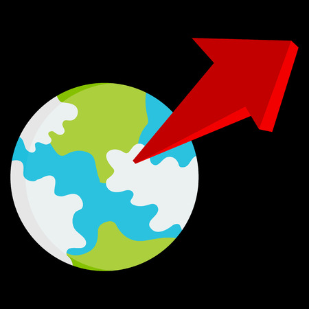 exponential: An image of an exponential growth globe. Illustration
