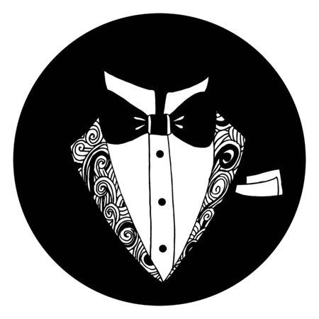 タキシード アイコンのイメージ。
