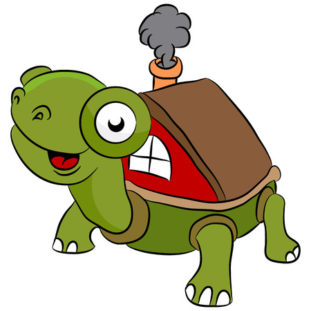 relocate: An image of a mobile turtle always on the move.