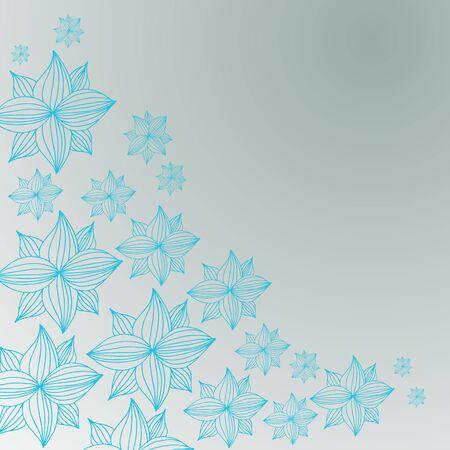 flower illustration: An image of a blue tropical flower background. Illustration