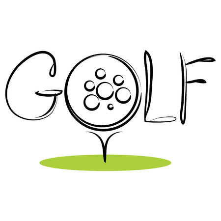An image of a sport background icon for golf. Illustration