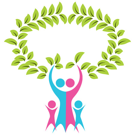 An image of an abstract family tree icon.