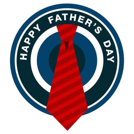 red tie: Icon for Happy Fathers Day with red tie.