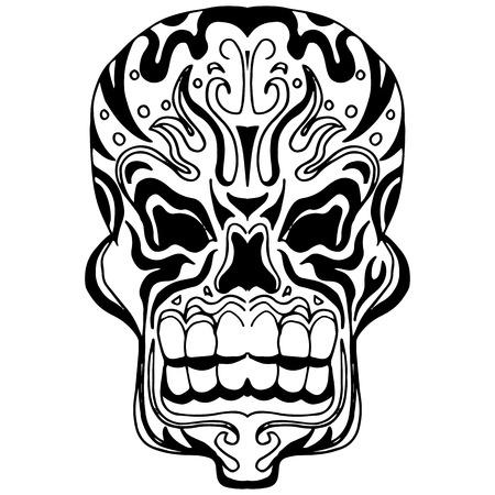 abstrato: crânio abstrato Ilustração