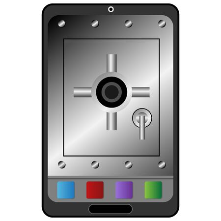 electronic device: Electronic device security icon.
