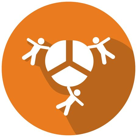 sharing: Abstract business profit sharing icon.