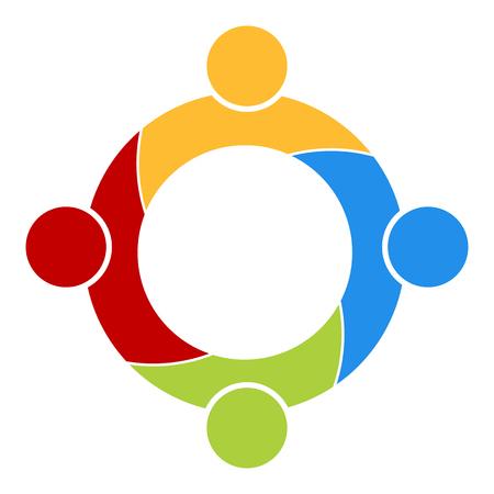 Travail d'équipe ou l'icône de groupe de soutien. Vecteurs