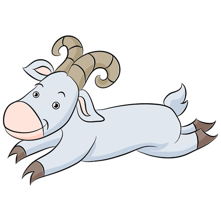 billy: An image of a cartoon of a leaping billy goat.