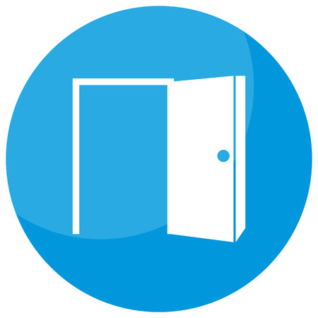An image of a opportunity open door business icon.