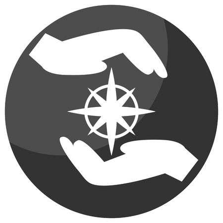�mission: An image of a team mission icon. Illustration