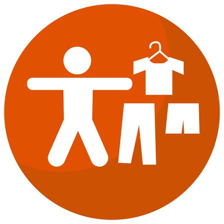 Une image d'une icône d'affaires de code vestimentaire. Banque d'images - 43200054