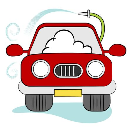 An image of a car going through an automatic carwash.