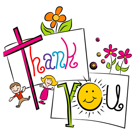 'thank you': An image of a cartoon thank you background.