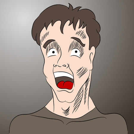 shocked man: A cartoon image of a shocked man.