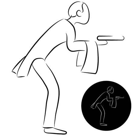 sirvientes: Una imagen de un icono de mayordomo.