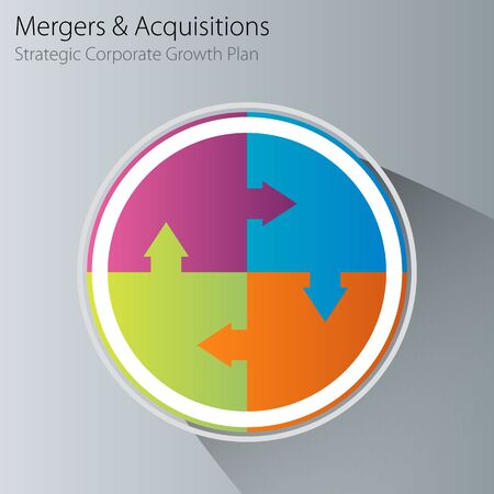 merger: An image of a merger and acquisition business chart.