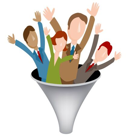 funnel: An image of a corporate merger funnel icon.