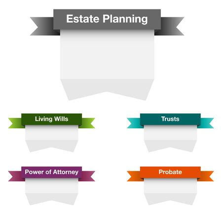 estate planning: An image of a estate planning icon set.