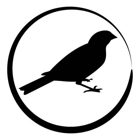 Een beeld van een mus vogel icoon.