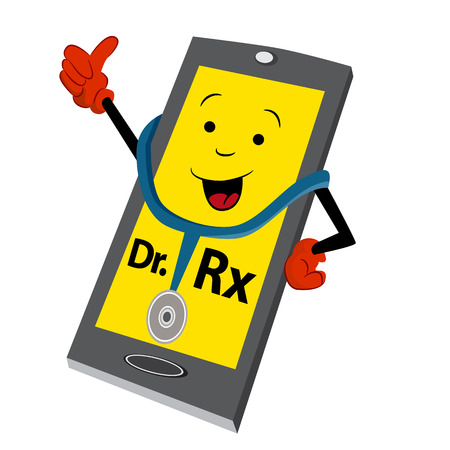 online service: An image of an abstract online doctor service icon.
