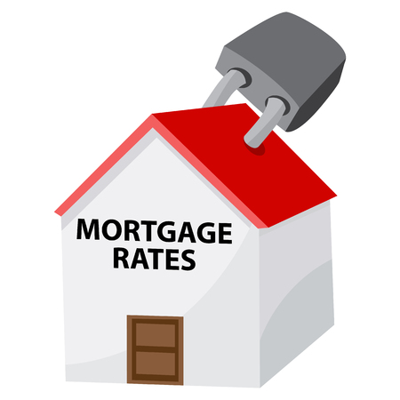 mortgage rates: An image of a locked mortgage rates icon.