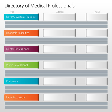 directory: An image of a healthcare directory of medical professionals chart icon.