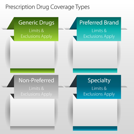 coverage: An image of a healthcare prescription drug coverage type chart icon. Illustration