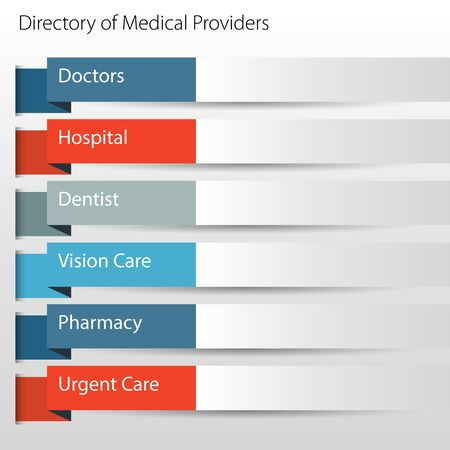 providers: An image of a directory of medical providers icon. Illustration