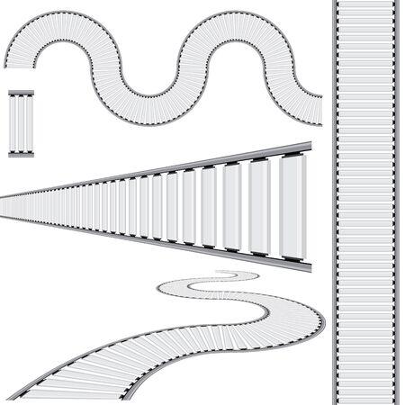 An image of an abstract converyor belt icon set. Stock fotó - 44277001
