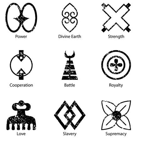 symbol: An image of an African Adinkra symbol icon set.