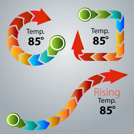 An image of an abstract arrow thermometer set.