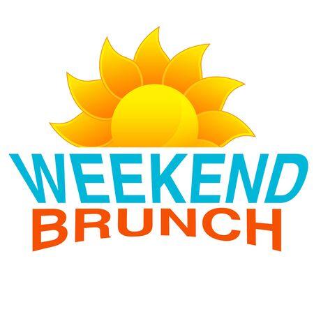 fin de semana: Una imagen de un icono de texto brunch.