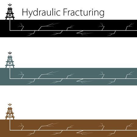 fracturing: An image of a hydraulic fracturing set. Illustration