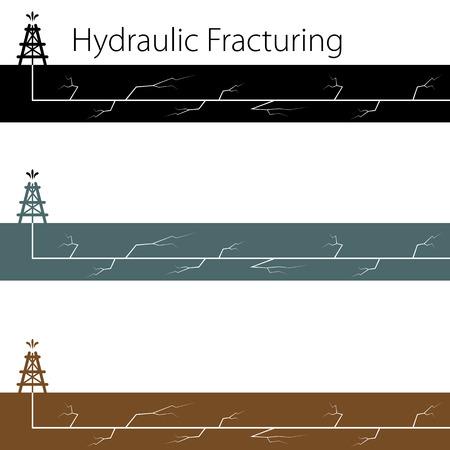 taladro: Una imagen de un conjunto de fracturamiento hidráulico.