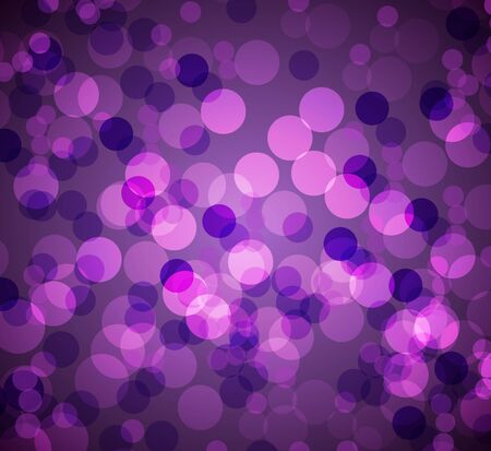 An image of a purple bokeh blurry lights background. Ilustrace