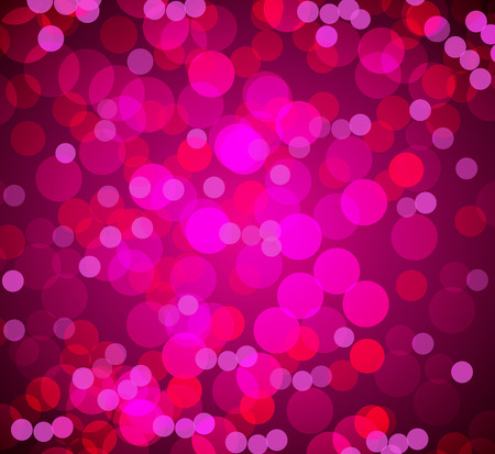An image of a pink bokeh blurry lights background. Ilustrace