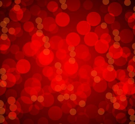 An image of a red bokeh blurry lights background.