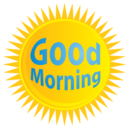 morning sunrise: An image of a sunrise with good morning text.