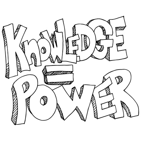 knowledge clipart: An image of a knowledge equals power background.